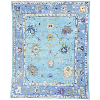 Contemporary Turkish Oushak Rug - 8′ × 10′10″ For Sale