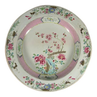 18th Century Chinese Famille Rose Porcelain 'Flower' Charger Plate For Sale