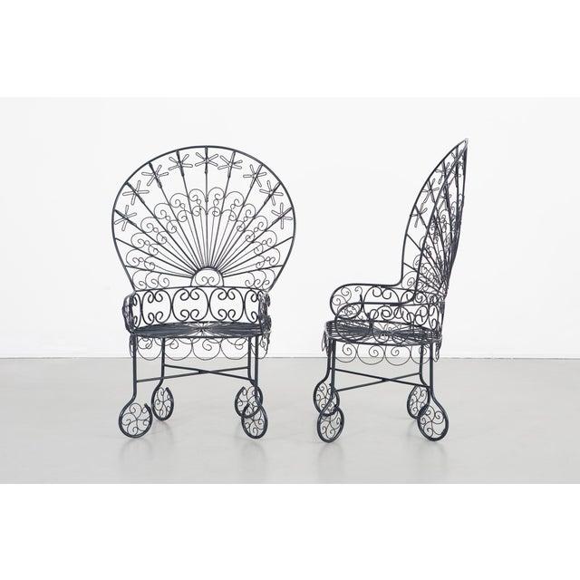 John Salterini Set of Salterini Peacock Chairs - a Pair For Sale - Image 4 of 12