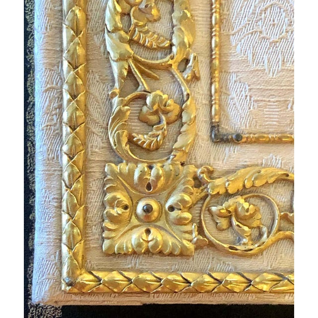Fine Gilt Bronze and Fabric Fold Desk Blotter Possibly J Caldwell - a Pair For Sale - Image 10 of 13