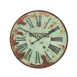 Antique Style Round Wall Clock For Sale