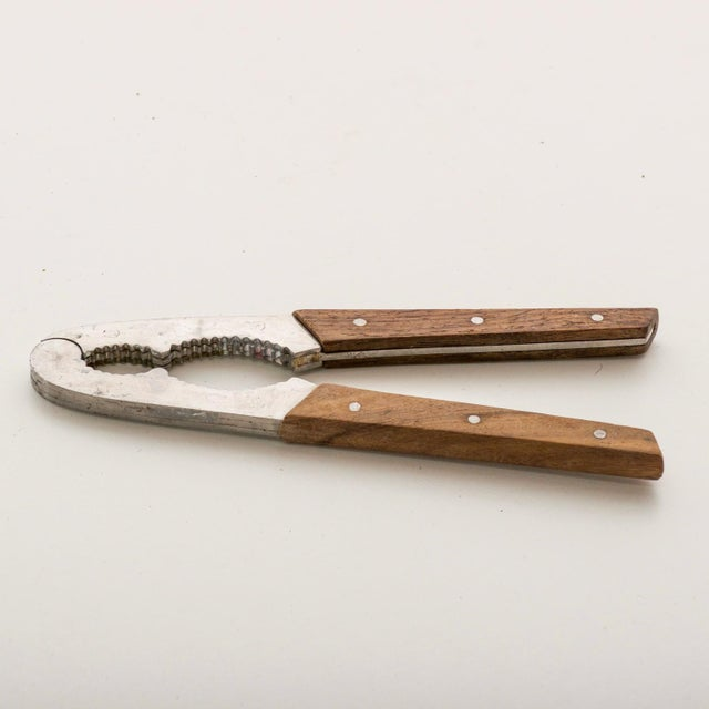 Danish Modern Mid Century Modern Stainless Steel Rosewood Nutcracker Bar Tool Utensil For Sale - Image 3 of 8
