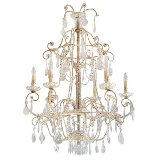 Italian Maria Theresa Beaded Chandelier For Sale