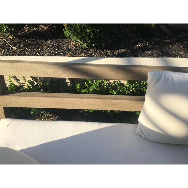 Contemporary Linen Weave Merida Sofa For Sale - Image 5 of 6