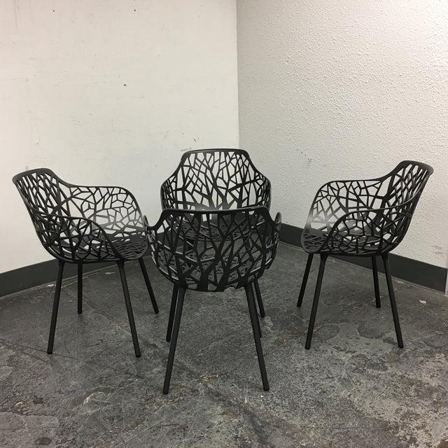 Janus Et Cie Metallic GreyForrest Dining Chair - Set of 4 - Image 5 of 10