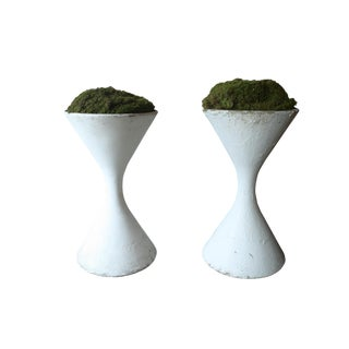 1970's Floor Size Finn Juhl Hourglass Shaped Urns From Switzerland - a Pair