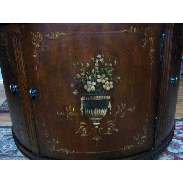 Ethan Allen Accent Table With Floral Design - Image 9 of 11