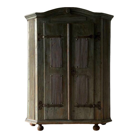 18th Century Swedish Painted Petite Herb Cabinet For Sale