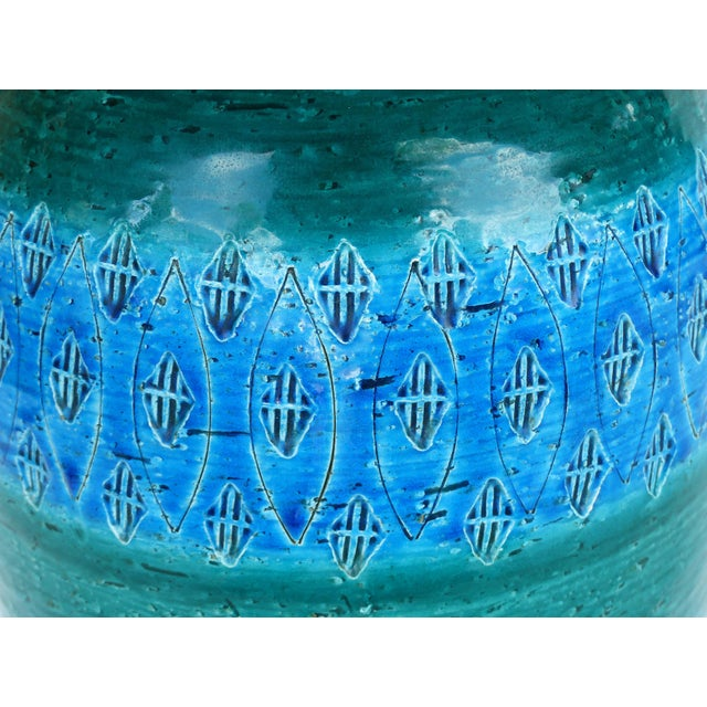 "1960s 1960s Bitossi Ceramiche Aldo Londi ""Rimini Blu"" Ceramic Table Lamps, Italy For Sale - Image 5 of 11"