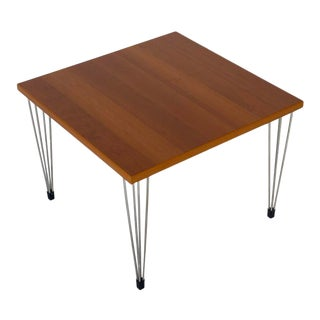 Vintage Birch Modular Coffee / Side Table Attributed to Fritz Hansen for Pin Age, Circa 1980s For Sale