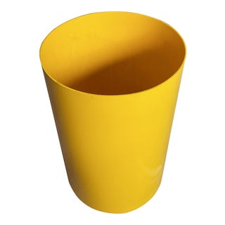 Vintage Kartell Italy G. Colombini Yellow Wastebasket For Sale