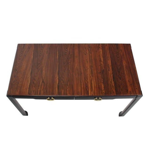 Rosewood Top Mid-Century Modern Writing Table For Sale In New York - Image 6 of 8