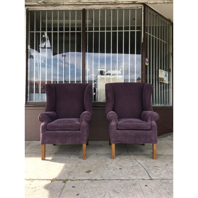 1970s Vintage Wingback Chairs- A Pair For Sale - Image 10 of 10