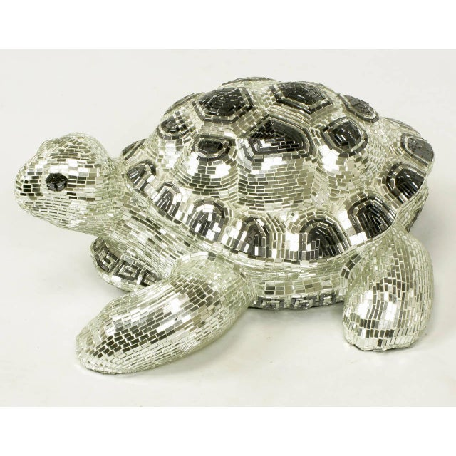 Lifesize Tortoise Sculpture Clad in Tessellated Mirror - Image 8 of 10