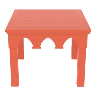 Oomph Ocean Drive Outdoor Side Table, Orange For Sale