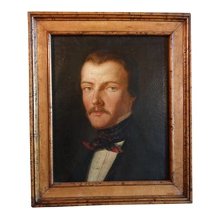 """Late 19th Century """"Portrait of a Young English Gentleman"""" Oil Painting, Framed For Sale"""