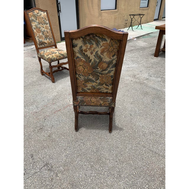 Brown 1900s French Country Louis XIII Style Os De Mouton Dining Chairs - Set of 6 For Sale - Image 8 of 10