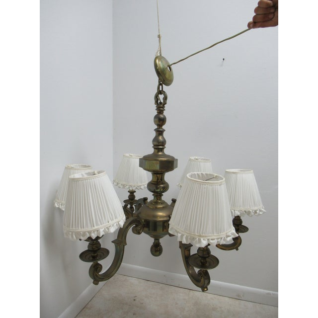 1974 Vintage Chapman Brass French Monumental Chandeliers - a Pair For Sale - Image 10 of 13