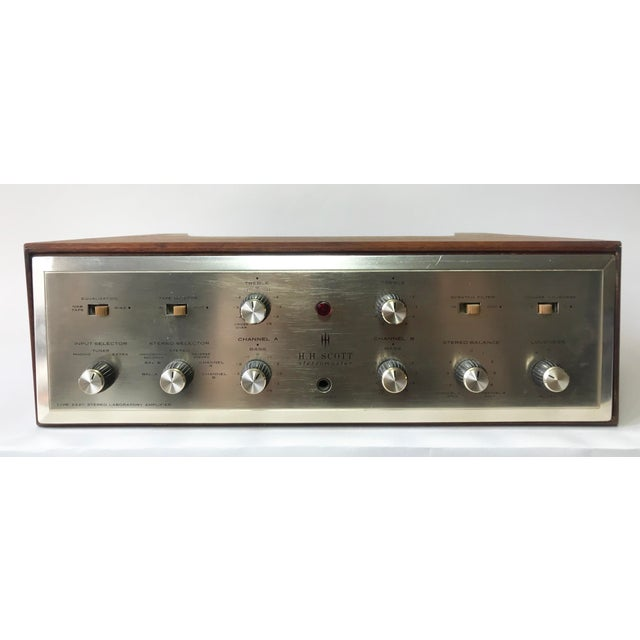 Mid-Century Modern 1960's Vintage MCM Hh Scott Integrated Tube Amplifier 222c For Sale - Image 3 of 12