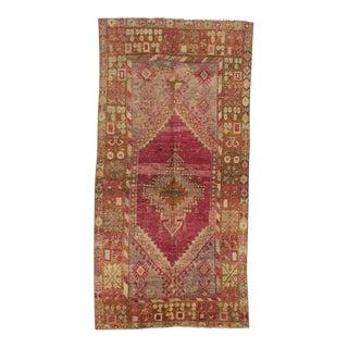 Vintage Turkish Anatolian Wool Rug - 3′9″ × 7′7″ For Sale