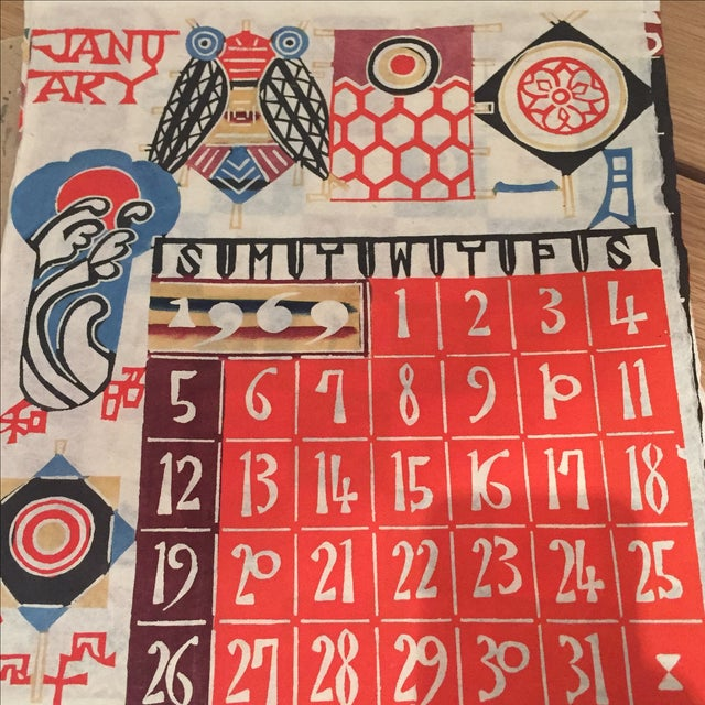 Mid-Century Modern 1969 Serizawa Calendar For Sale - Image 3 of 7