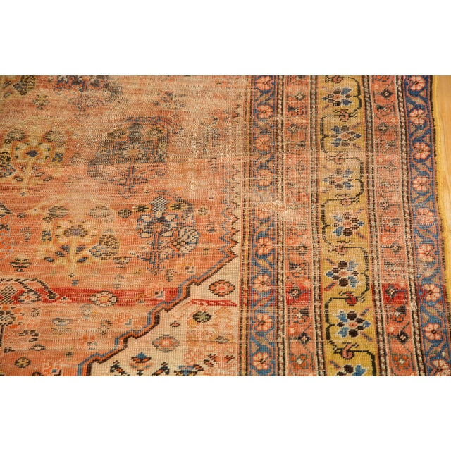 """Antique Qashqai Rug - 4'11"""" X 6'4"""" For Sale - Image 12 of 13"""