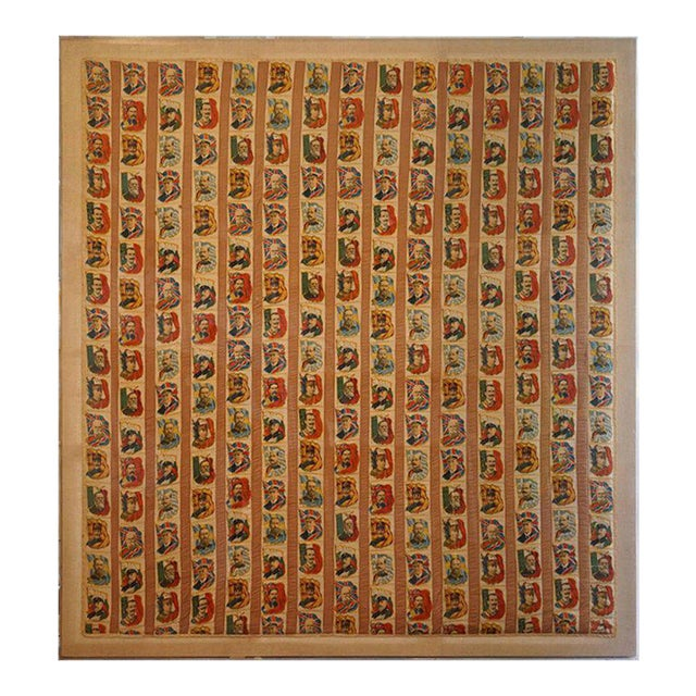 Imperial Tobacco Company of Canada Silk Trading Cards Quilt Mounted on Canvas For Sale