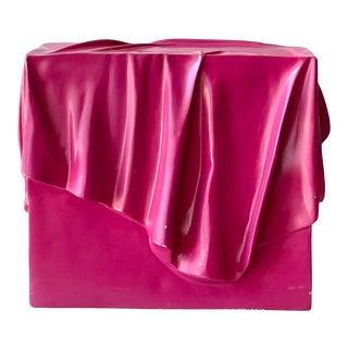 Post Modern Draped Resin Box For Sale