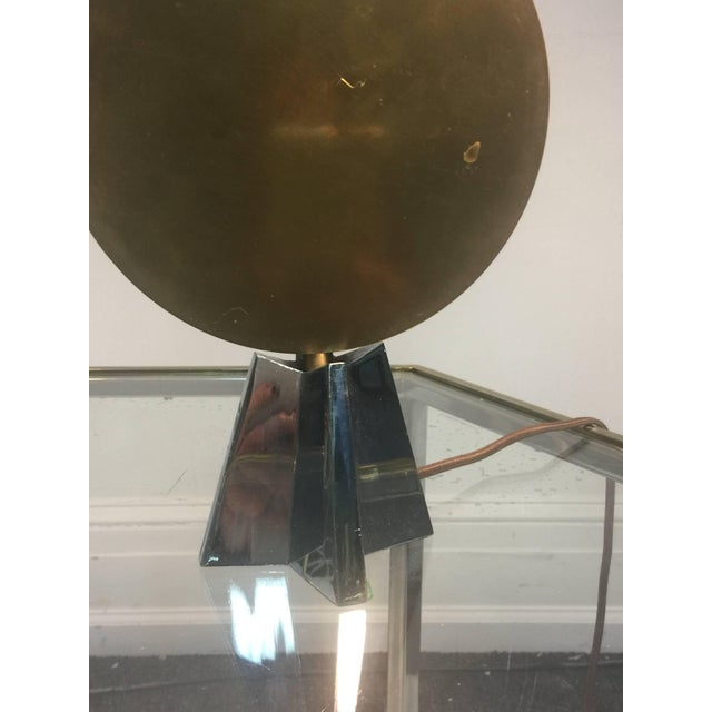 Pair of Art Deco Bronze Cubist Lamps For Sale - Image 4 of 10