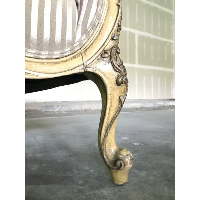 Metal Early 20th Century Vintage Louis XV Style Sofa Cabriole Leg For Sale - Image 7 of 10