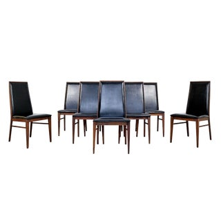 1960s Mid Century Modern Merton Gershun for Dillingham Dining Chairs - Set of 8