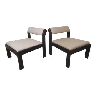 Pair of Wide Lounge Chairs