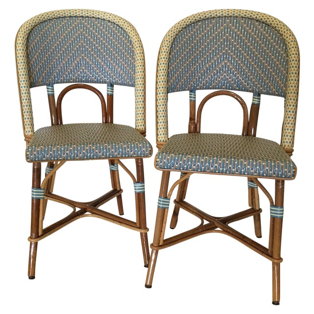Authentic French Maison Gatti Bistro Chairs - Pair For Sale