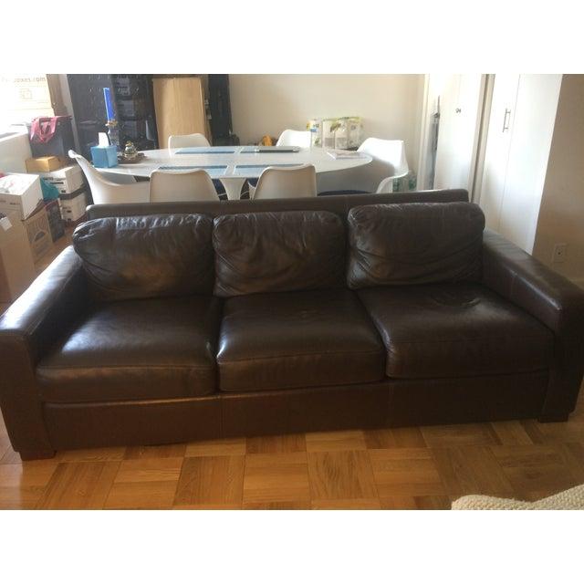 "Design Within Reach 84"" Portola Leather Sofa - Image 2 of 5"