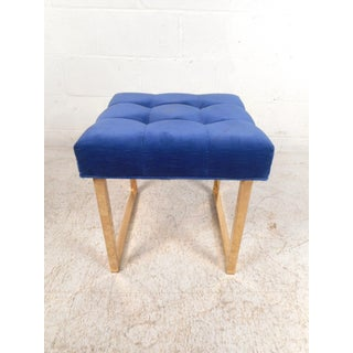 Mid-Century Brass Base Footstool Preview