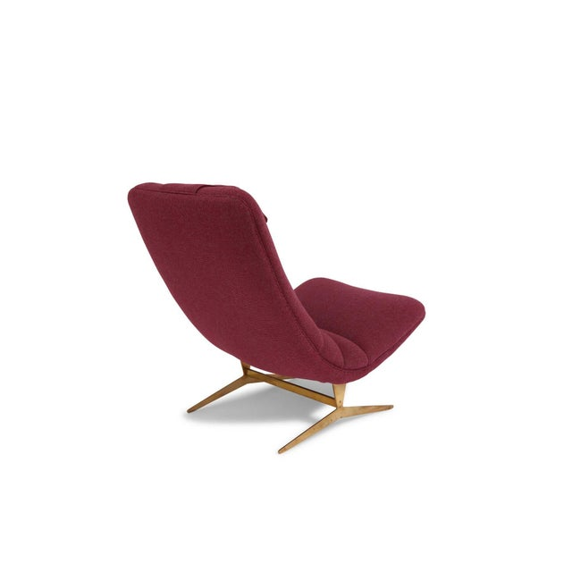 Metal Italian Lounge Chair and Ottoman For Sale - Image 7 of 8