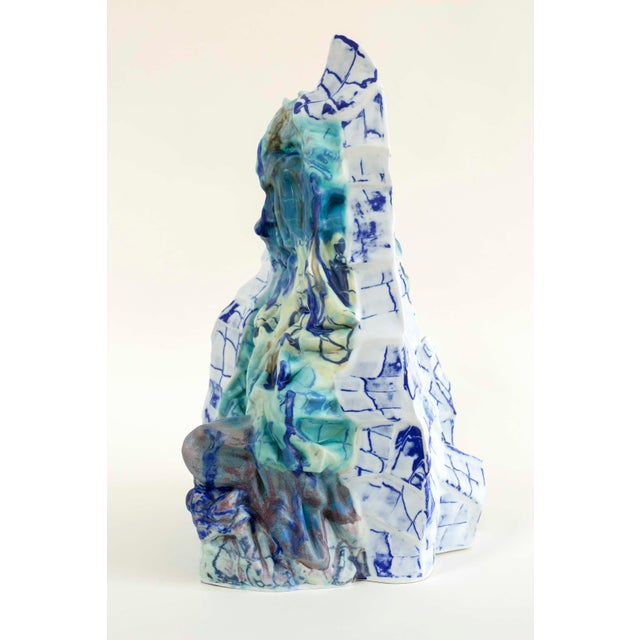 Abstract Bending the Walls - 'Lop Nor Iii' Porcelain Sculpture by Babs Haenen For Sale - Image 3 of 4