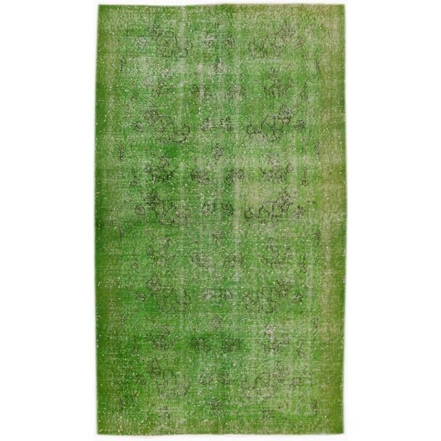 """1960s Vintage Overdyed Rug, 3'10"""" X 6'9"""" For Sale - Image 5 of 5"""