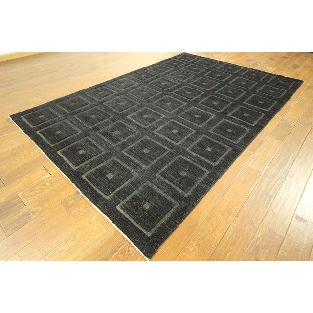 "Square Black Gabbeh Kashkuli Rug - 6'8"" x 10' - Image 2 of 10"