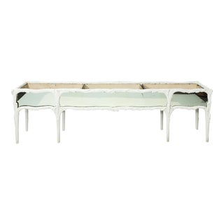 20th Century Cottage White Painted Mirrored Planter For Sale