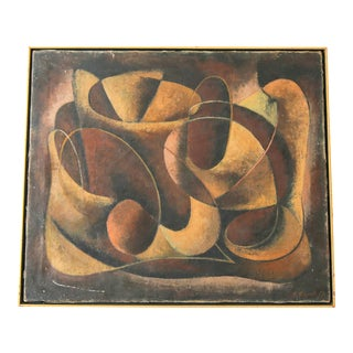 """Composition in Brown"" Abstract Painting by Samuel Sigaloff For Sale"