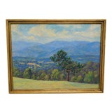 "Image of Edward Walker Oil Painting on Canvas ""Mt. Moosalamoo, Green Mountains North of Brandon"" For Sale"