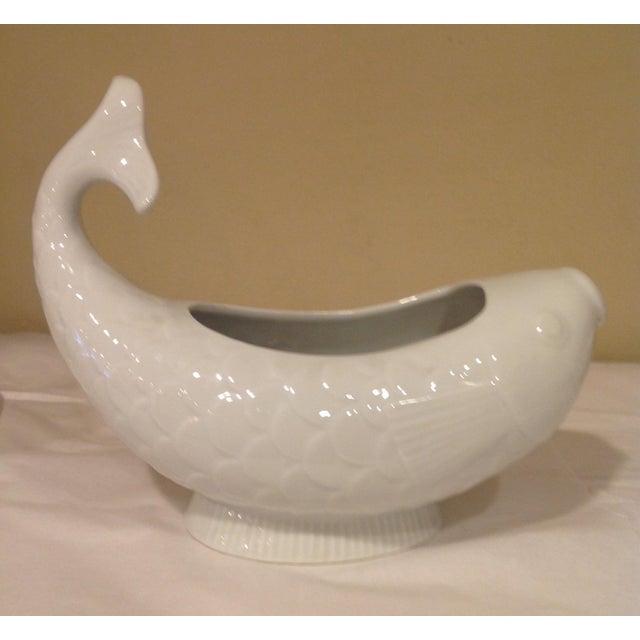 Jens Quistgaard Fish Porcelain Sauce Boat From Dansk Designs Ltd/France For Sale - Image 4 of 6