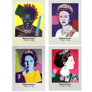Bundle- 4 Assorted Andy Warhol Famous Queens Posters For Sale