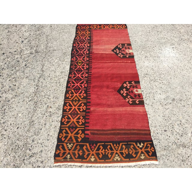 Vintage Kilim Runner - 3′5″ × 9′2″ - Image 2 of 7