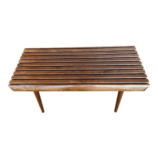 Danish Mid-century Modern Slatted Bench