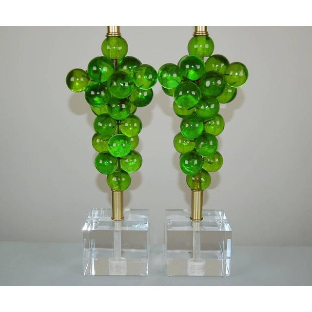 Vintage Bubble Table Lamps by Silvano Pantani, 1966 Lime Green For Sale - Image 10 of 10