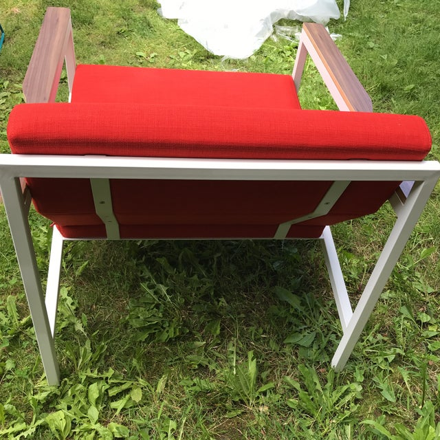 Gus Modern Halifax Chair Upholstered in Red For Sale - Image 4 of 11