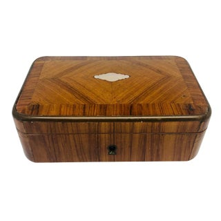 French 19th C. Kingwood Jewel Box With Key For Sale