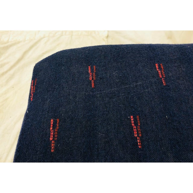 Blue Antique Woven Bamboo Blanket Bench For Sale - Image 8 of 10